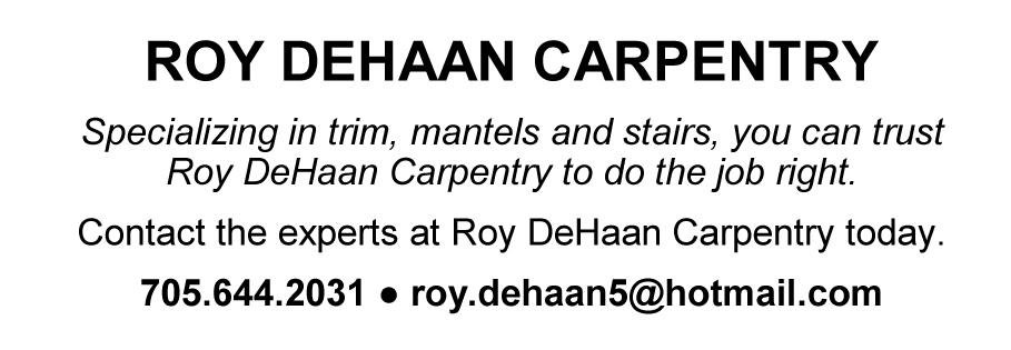 Roy DeHann business card